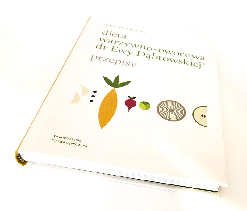 okładka książki dieta warzywno-owocowa dr Ewy Dąbrowskiej przepisy autor Beata Dąbrowska