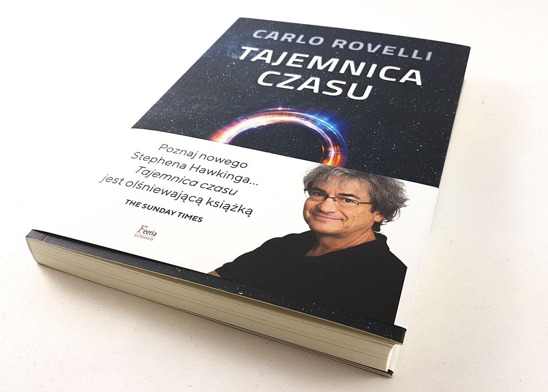 okładka książki tajemnica czasu Carlo Rovelli